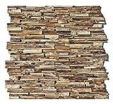 HO-003-1 Wandpaneele 3D Teak-Holz Verblender Wandverblender Wandfliese Wandverkleidung Wand-Design - Fliesen Lager Verkauf Stein-Mosaik Herne NRW