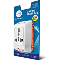 Wipro 3 way multiplug with built in Surge Protector