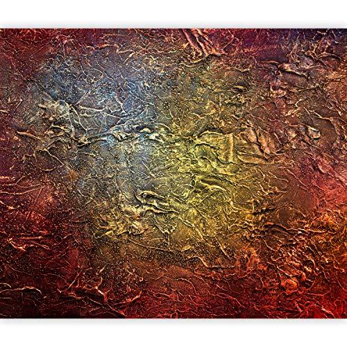 murando - Fototapete Abstrakt 150x105 cm - Vlies Tapete - Moderne Wanddeko - Design Tapete - Wandtapete - Wand Dekoration - gold rot f-A-0778-a-a (Dekorationen Gold Und Rot)