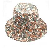 Shuo lan hu wai Baumwolle und Flachs Herbst und Winter Streifen drucken Hut Lady Big Hat Fishing Cap Sonnenschutz