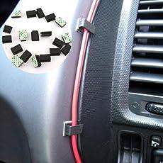 ZAK168 40 Stück Kabel-Clips Selbstklebend Auto SUV GPS Datenkabel Festklemmen Kunststoff Kabelhalter Draht Clip