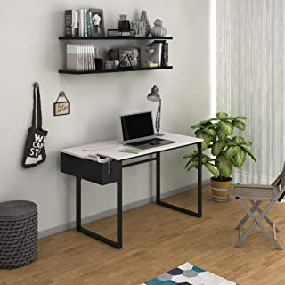 Jordyblue Premium Upgradable Engineered Wood Office Desk, Study Table, Computer Desk and Workstation with Inbuilt…