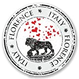 2 x 20cm/200 mm Florence Italie Autocollant de fenêtre en verre Voiture Van Locations #6097