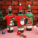 Sacchetti Della Copertura Della Bottiglia di Vino di Natale, Natale Vino Sacchetti Borse 3 Pezzi per Decorazioni Natalizie Ma