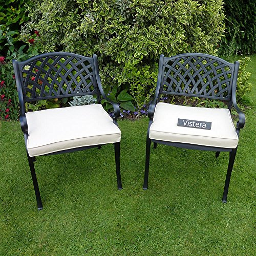 ROSEBURN CAST ALUMINIUM ARMCHAIR (SET OF 2)
