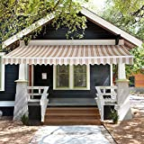 Home Deluxe ELOS | Markise | mehrstreifig | verschiedene Größen | 3,5 x 2,5 m