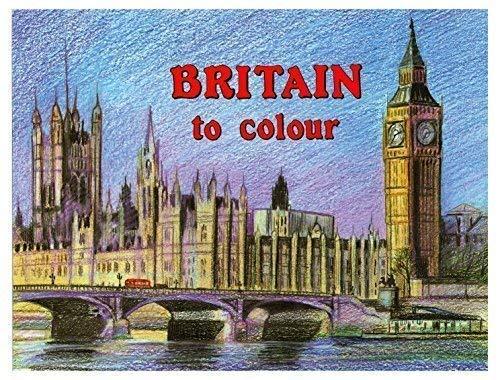 BRITAIN to Colour Erwachsene Malen & Färbung Books BERÜHMTE SEHENSWÜRDIGKEITEN & Landschaft 740 - Book 1 - Big Ben