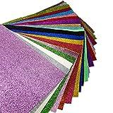 Superfine Glitzer Stoff starker Leinwand Rückseite Craft DIY Craft verschiedene Farben 20,3x 33cm (20cm x 34cm) 21 Colors
