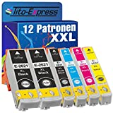 PlatinumSerie® 12x Druckerpatrone XXL kompatibel für Epson TE2621 TE2631-TE2634 Expression Premium XP-620 XP-620 Series XP-625 XP-700 XP-710 XP-720 XP-800 XP-810 XP-820