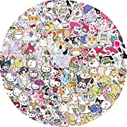 200PCS Cute Stickers for Kids Teens Girls Adults, Hamster Stickers,Rainbow Unicorn Stickers for Skateboard Gui
