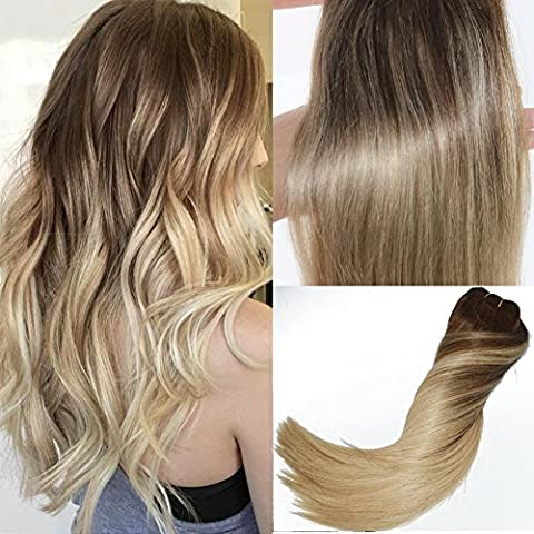 14 inch Ombre Human Hair Clip in Remi Hair Extensions