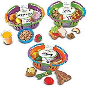 Learning Resources- Conjunto de Tres cestas New Sprouts, Color (LER9733)