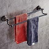 Willsego Schwarzes Badezimmer Einbauschrank Aluminium Badezimmer Wand Handtuch Doppel Bad Handtuchhalter (Farbe : C)