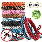 ARINO Mosquito Bands Mosquito Repellent Bracelets 12 Pack, Premium Quality, DEET-Free Natural Wristbands