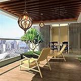 Vintage Outdoor Balkon Glaskugel Kronleuchter Europäischen Traubenwasserdichten Aluminium Kronleuchter E27 Birne 23 * 37 cm, schwarz
