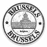 2 x 10cm/100mm Brüssel Belgien Fenster kleben Aufkleber Auto Van Wohnmobil Glas #9469