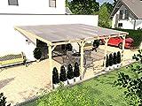 Prikker Terrassenüberdachung Usedom VI Wintergarten 600 x 400 cm Leimbinder Fichte