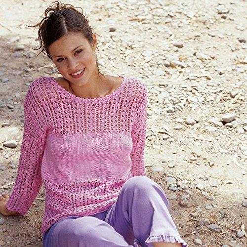 MyOma Sommerleicht! Luftigen Damen Pullover selber Stricken mit dem Strickset Wolle Catania von Schachenmayr* Kostenlose Strickanleitung von Schachenmayr* für Größen 36/38 und 40/42* Strickpackung