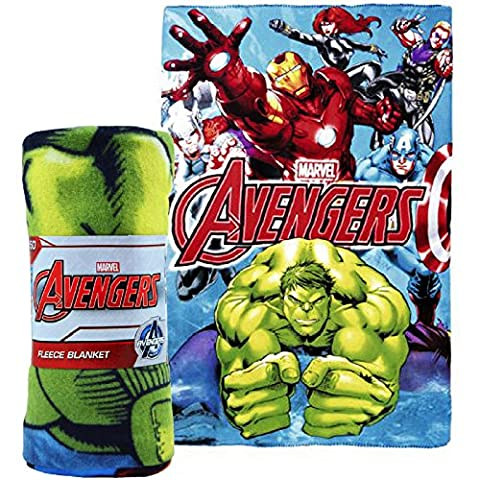 Marvel Avengers Polar decke/Bettüberwurf, Fleece Kinder Kinder Jungen Bettwäsche Hulk Iron Man Thor Captain America
