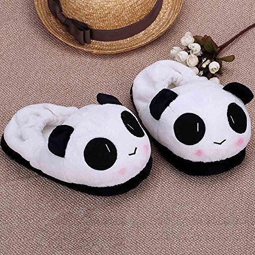Anself Femme Chaussures chaussons thermiques hiver chaud doux en peluche ménagers en motif de panda