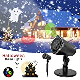 Projector Light, Gvoo Halloween Decoration Outdoor Indoor Projector Lights Colorized Auto Rotating Waterproof Party Lights for Wall Decoration