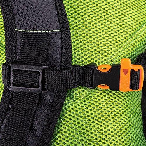 Spokey® Sprinter Rucksack - Trinkrucksack, 395gr.,Laufrucksack, Fahrradrucksack Schwarz-Grün