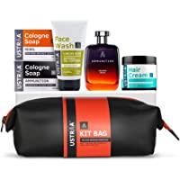 Ustraa Grooming Kit with free Travel Bag-Ammunition Cologne Soap (125 gm) & Rebel Cologne Soap (125 gm), Hair Cream (100 gm), Ammunition Cologne (100ml) and Face Wash Oily Skin (100 gm)