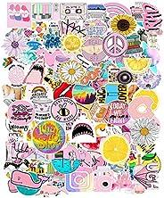 103 قطعة من ملصقات اللاب توب الوردية اللطيفة للفتيات ملصقات زجاجات مياه كرتونية للفتيات ملصقات فينيل مقاومة لل