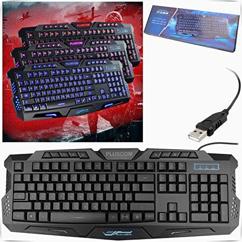 safekom-clavier-multimedia-de-jeu-retroeclaire-a-led-usb-filaire-ergonomique