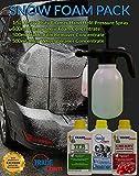 Mini pack de limpiezapara coches –con jabón de gran potencia y resistencia de 1,5 l que incluye rociador para productos químicos.