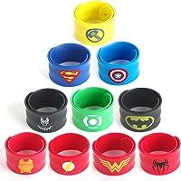 LAOZHOU Lot de 10 Bracelets de Super-héros de chez pour Enfants - pour Les fêtes d'anniversaire
