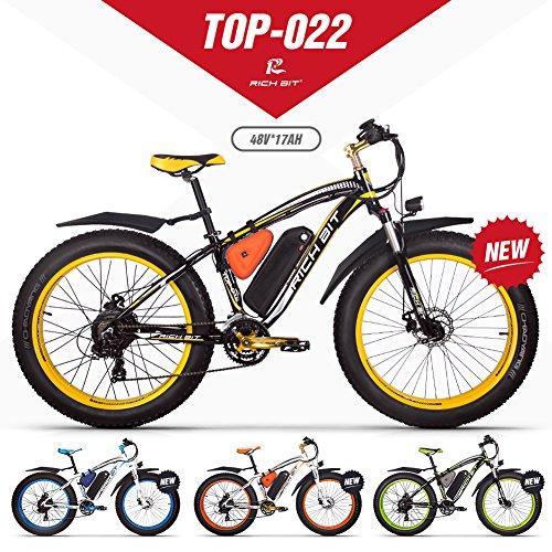RICHBIT eBike RLH-022, E-Bike, 1000 W, 48 V, 17 AH,Gelb