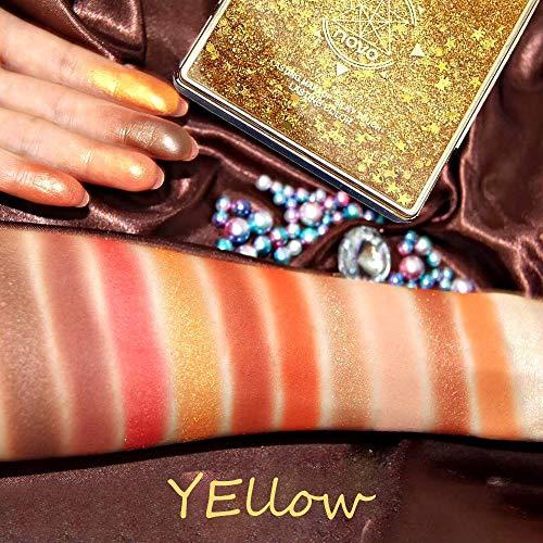 PNING 12 Farbe Flash Sand Eye Shadow Disc Gesichts Make-Up Für Lidschatten, Es kann als Hochglanz, Lidschatten und Rouge verwendet werden, Hochwertigen Inhaltsstoffen mit seidiger Glanzfarbe