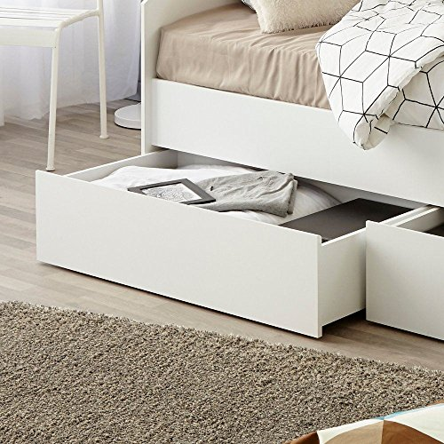 Happy Beds Sleep White Wooden Day Bed with Flex 1000 Orthopaedic Mattress European Single (90 x 200 cm)