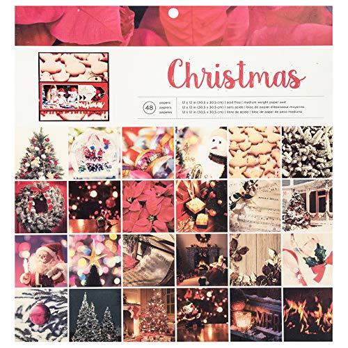 American Crafts 348713 Christmas Paper Pad, Multi -