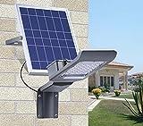 GAOLIQIN Luci solari a LED, Smart Street lampioni solari telecomandati, Luci impermeabili super luminose, Luci da giardino esterne, Applique da parete per esterni, 20W, 30W (Wattage : 30W)