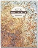 DÉKOKIND To Do Planer: DIN A4, 100+ Seiten, Register, Vintage Softcover | Dickes Checklisten Buch | Motiv: Rostig