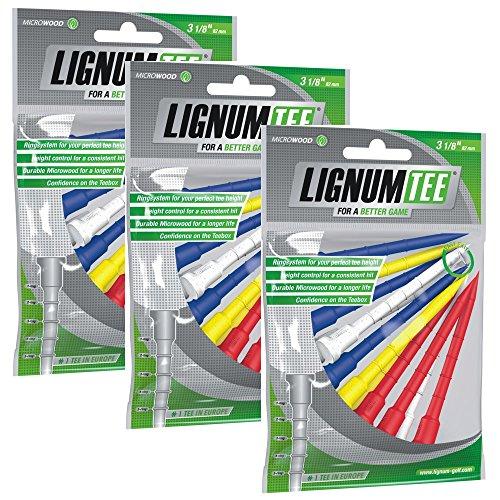 Lignum Tees 3sacchetto a 12pezzi 82mm di lunghezza (36Tee) colore: multicolore