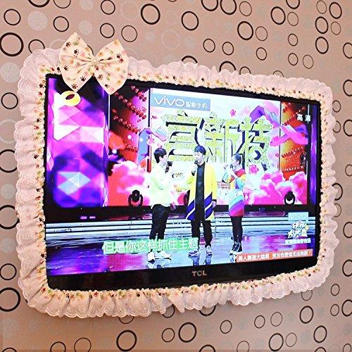 XXAICW Lcd-Tv Grenze Haube Grenze Tv Maske Oberfläche Staubdichten Abdeckung M Zoll Zoll Zoll 40-42-43 Zoll Bunte Kleine Füße Mit Unabhängigen Beige Staub Garn