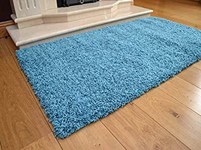 Soft Touch Shaggy Teal Thick Luxurious Soft 5cm Dense Pile Rug. Available in 7 Sizes - low-cost UK light store.