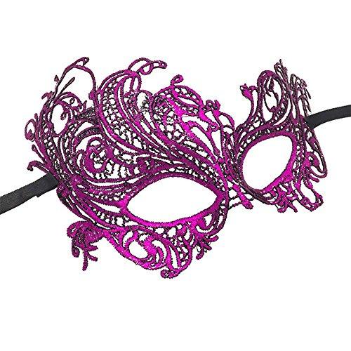 Imagen de máscara veneciana djhbuy para mujer, con diseño sexy de encaje e ideal para disfraz