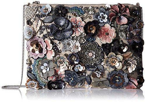 Accessorize Pochette zippée sur le dessus motif floral Posey - Femme Multicolore