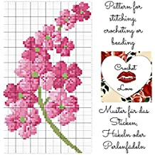 Crochet Love - Flower: Pattern for stitching, crocheting or beading - Muster für das Sticken, Häkeln oder Perlenfädeln (English Edition)