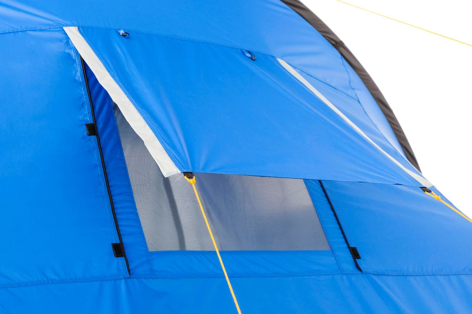 CampFeuer - Tunnel Tent, 4 Person, 410x250x190 cm, blue/grey 8
