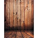 Tinksky 1,5 M 1 M Wood Floor Photography Backdrops Photo Props Studio Background (Red Wood Color)