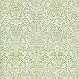 Melody Jane Maison de Poupées Vert sur Blanc Gland Papier Peint William Morris Design