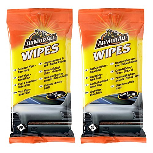 2-x-armorall-car-interior-dashboard-cleaner-protector-wipes-20-gloss-finish