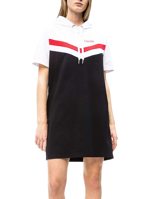 Calvin Klein Vestido Cheerleader Colorblock Hood