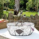 Dibor - French Style Accessories for the Home Chicken Wire Egg basket, con coperchio e manico–perfetto per raccogliere le uova a Pasqua–W30x H x P 21cm