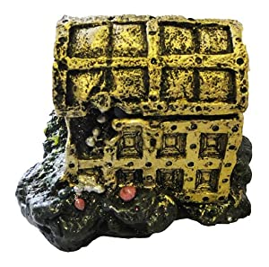 Treasure Chest with Air Pump Activated Lid Aquarium Ornament from All Pond Solutions
